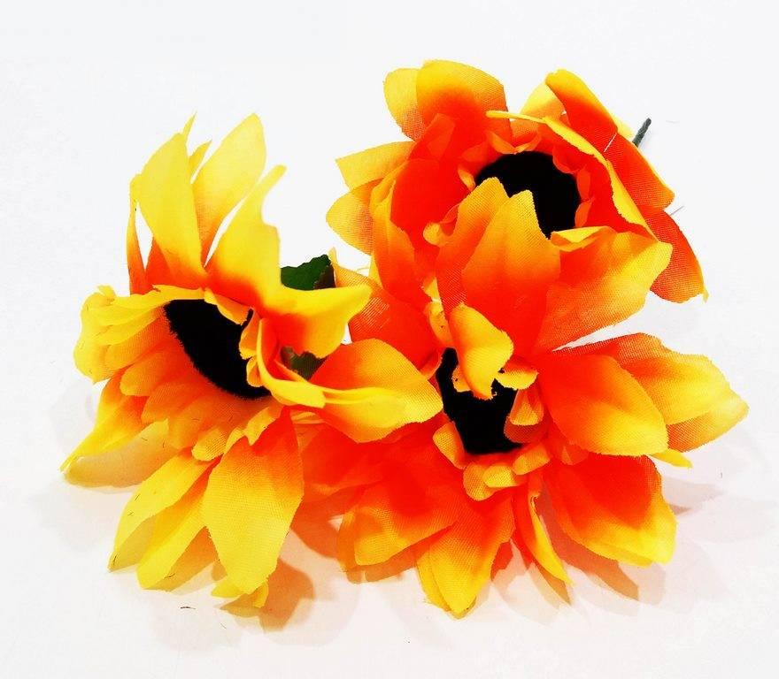 Изкуствено цвете 3-ка Слънчогледи в четири цвята на Промо Цена с Бърза Доставка, Мнения, Препоръки, Клиентски Ревюта и Отзиви от Saksiika.com