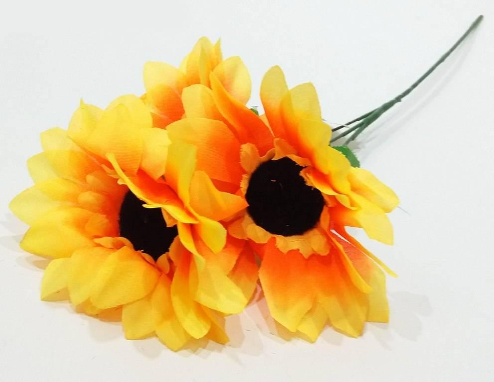 Изкуствено цвете 3-ка Слънчогледи 52 см в четири цвята на Промо Цена с Бърза Доставка, Мнения, Препоръки, Клиентски Ревюта и Отзиви от Saksiika.com