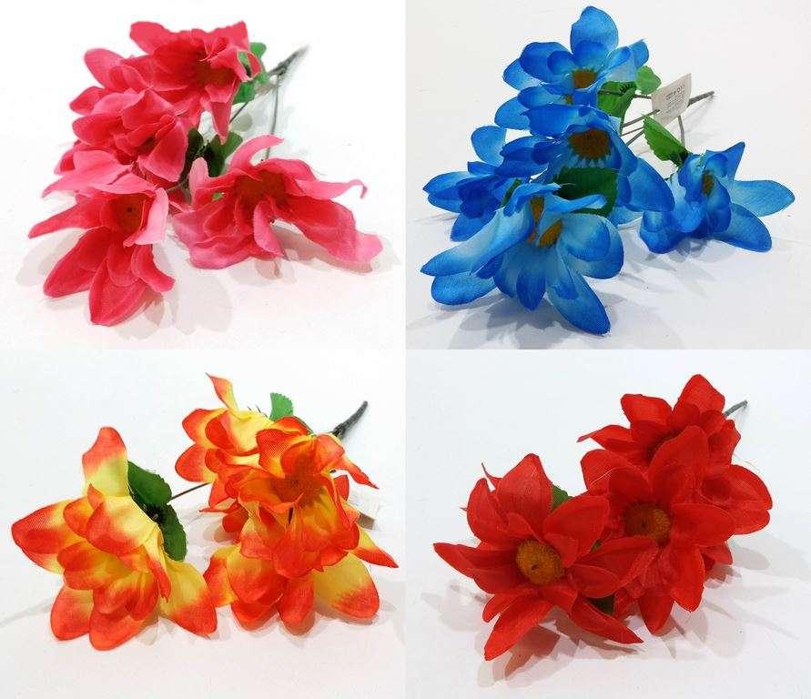 Изкуствено цвете Хризантема 5-ца в четири цвята на Промо Цена с Бърза Доставка, Мнения, Препоръки, Клиентски Ревюта и Отзиви от Saksiika.com