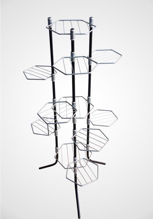 Сгъваем цветарник за 11 саксии в черен цвят на на Промо Цена с Бърза Доставка, Мнения, Препоръки, Клиентски Ревюта и Отзиви от Saksiika.com