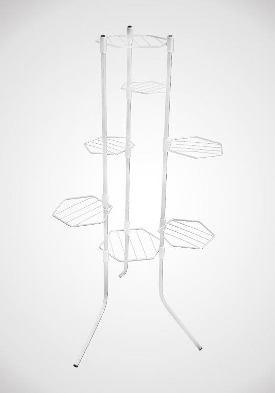 Сгъваем цветарник за 7 саксии в бял цвят на на Промо Цена с Бърза Доставка, Мнения, Препоръки, Клиентски Ревюта и Отзиви от Saksiika.com