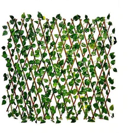 Декоративна дървена разтегателна ограда върбови клонки с големи листа Н70см/до 2м НА ПРОМО ЦЕНА В ОТСТЪПКА С МНЕНИЯ, РЕВЮТА, ОТЗИВИ И ПРЕПОРЪКИ от Saksiika.com