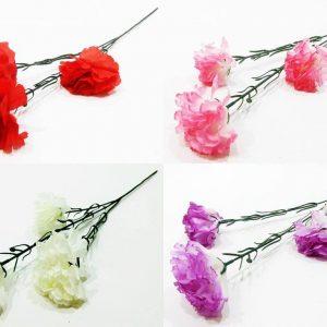 Изкуствено цвете Карамфил 3-ка с дълга дръжка в четири цвята на Промо Цена с Бърза Доставка, Мнения, Препоръки, Клиентски Ревюта и Отзиви от Saksiika.com