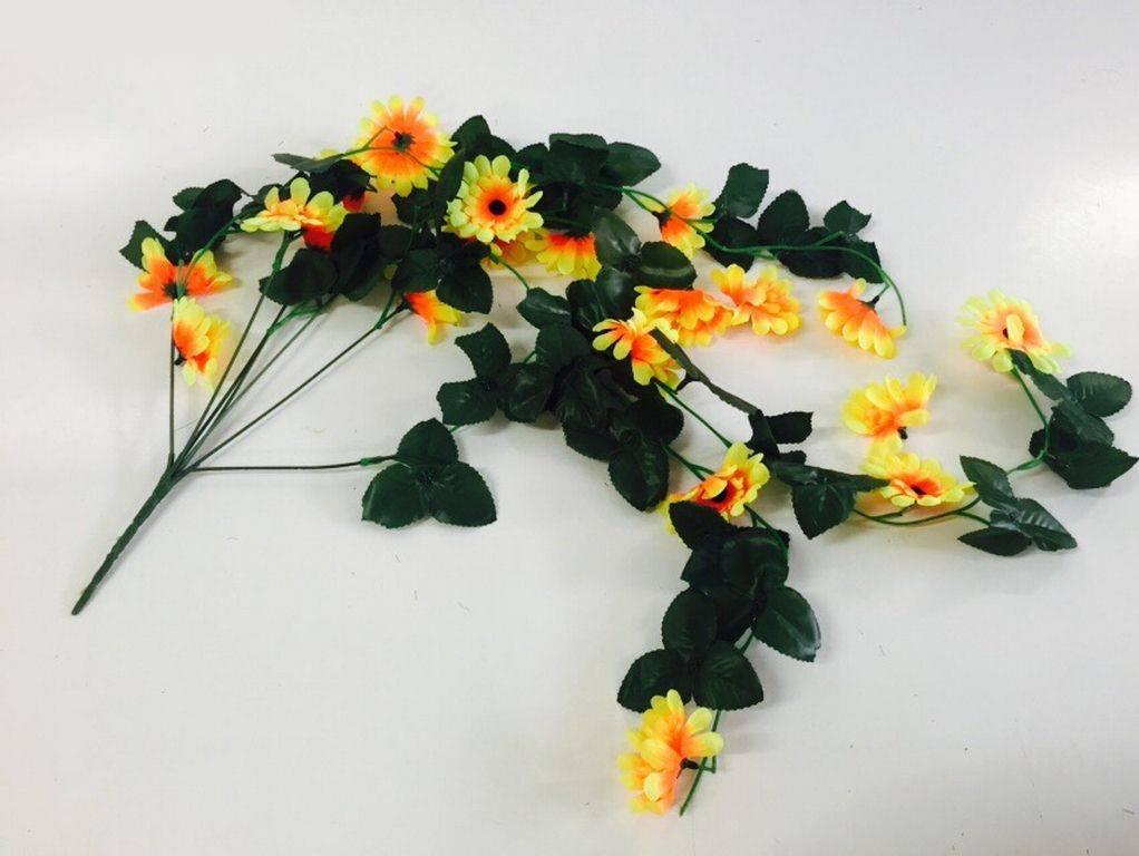 Изкуствено цвете/лиана за ъгъл с 20 броя слънчогледи на Промо Цена с Бърза Доставка, Мнения, Препоръки, Клиентски Ревюта и Отзиви от Saksiika.com цветя