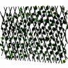 Декоративна дървена разтегателна оградка с малки листа Н70см/до 2м
