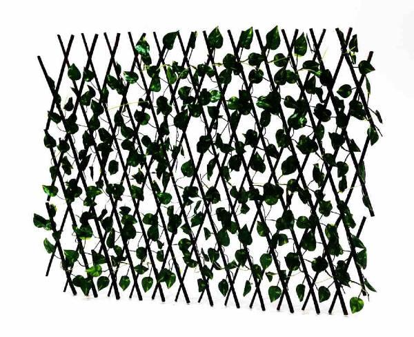 Декоративна дървена разтегателна оградка с малки листа Н70см/до 2м НА ПРОМО ЦЕНА В ОТСТЪПКА С МНЕНИЯ, РЕВЮТА, ОТЗИВИ И ПРЕПОРЪКИ от Saksiika.com