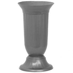 Малка ваза от пвц в сив цвят KOV на Промо Цена с Бърза Доставка, Мнения, Препоръки, Клиентски Ревюта и Отзиви от Saksiika.com