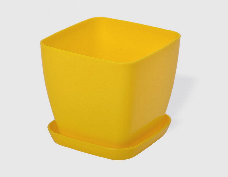 Саксия в жълт цвят Flora гланц 25 x 25см НА ПРОМО ЦЕНА В ОТСТЪПКА С МНЕНИЯ, РЕВЮТА, ОТЗИВИ И ПРЕПОРЪКИ от Saksiika.com