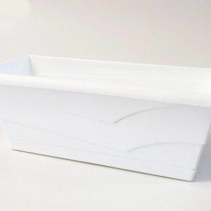 Сандъче за цветя MN 40 см бяло на промо цена, с отстъпка и мнения, ревюта, препоръки и отзиви от saksiika.com