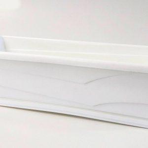 Сандъче за цветя MN 50 см бяло на промо цена, с отстъпка и мнения, ревюта, препоръки и отзиви от saksiika.com