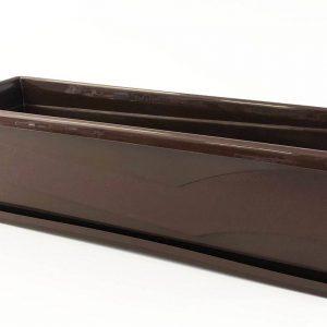 Сандъче за цветя MN 50 см тъмно кафяво на промо цена, с отстъпка и мнения, ревюта, препоръки и отзиви от saksiika.com