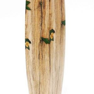 Дървена ваза с цветни орнаменти и овална форма Н58см/11х11см на Промо Цена с Бърза Доставка, Мнения, Препоръки, Клиентски Ревюта и Отзиви от Saksiika.com