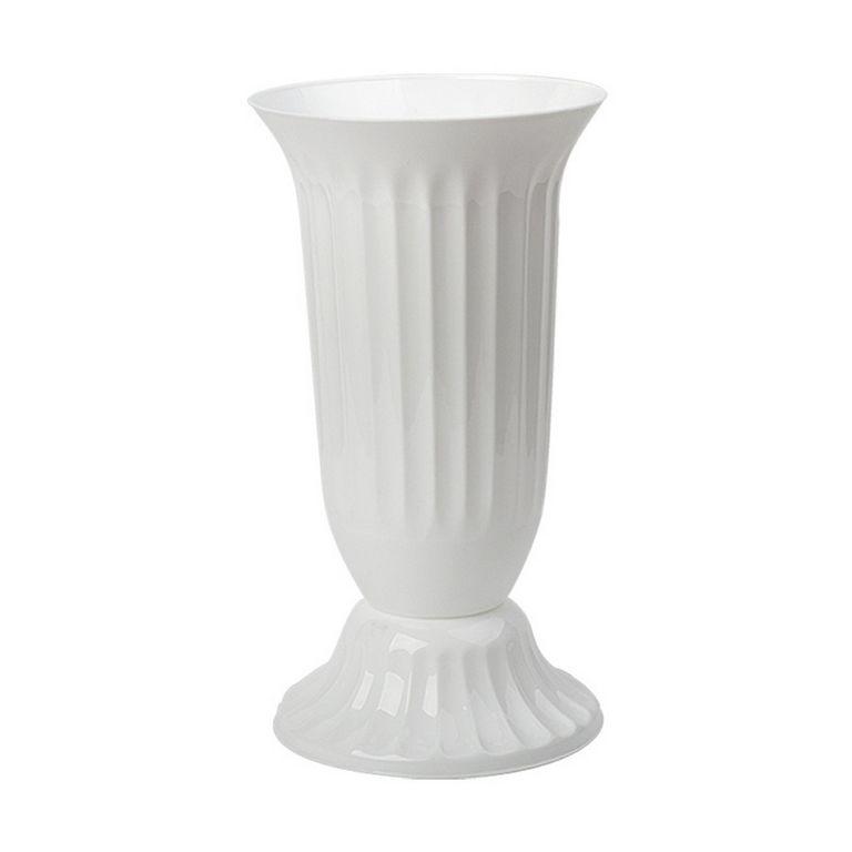 Голяма ваза от пвц в бял цвят на Промо Цена с Бърза Доставка, Мнения, Препоръки, Клиентски Ревюта и Отзиви от Saksiika.com
