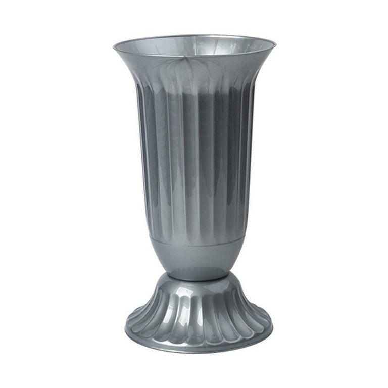 Голяма ваза от пвц в сив цвят на Промо Цена с Бърза Доставка, Мнения, Препоръки, Клиентски Ревюта и Отзиви от Saksiika.com