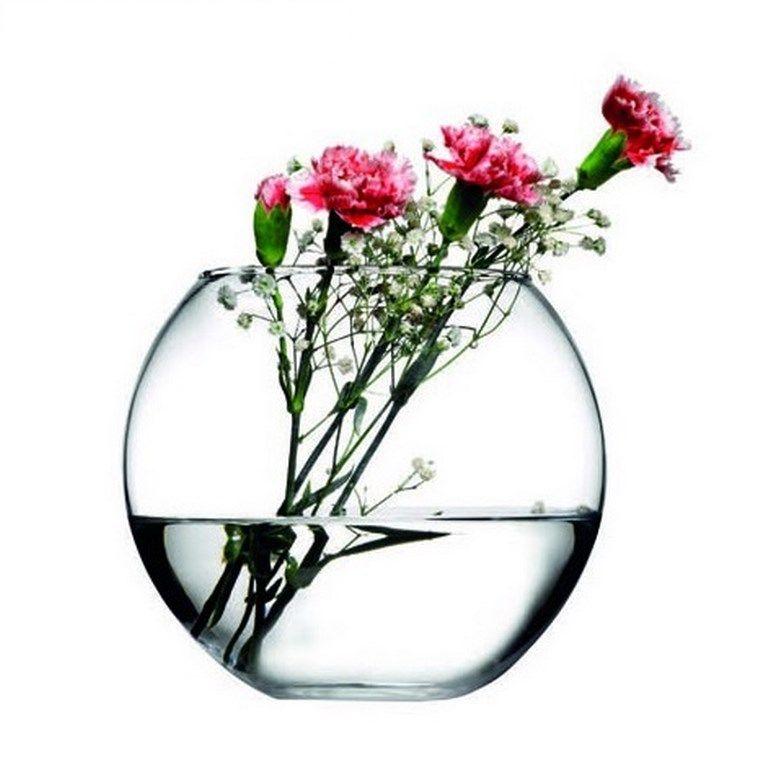 Стъклена ваза с форма на кълбо Н16см/Ф12.5см на Промо Цена с Бърза Доставка, Мнения, Препоръки, Клиентски Ревюта и Отзиви от Saksiika.com