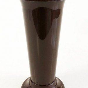 Голяма гладка ваза в тъмно кафяв цвят на Промо Цена с Бърза Доставка, Мнения, Препоръки, Клиентски Ревюта и Отзиви от Saksiika.com