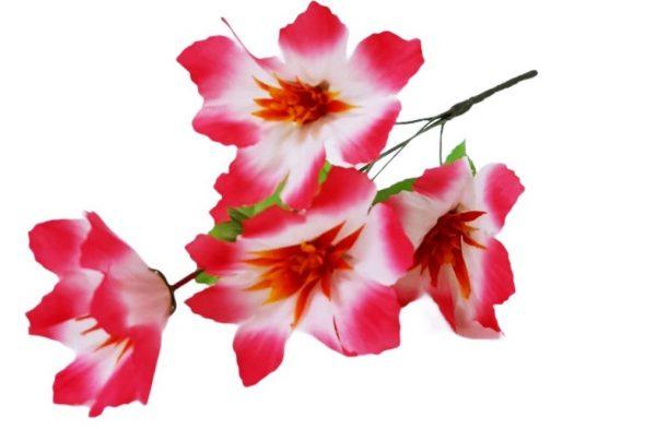 Изкуствено цвете Латинка 5-ца в два цвята на Промо Цена с Бърза Доставка, Мнения, Препоръки, Клиентски Ревюта и Отзиви от Saksiika.com