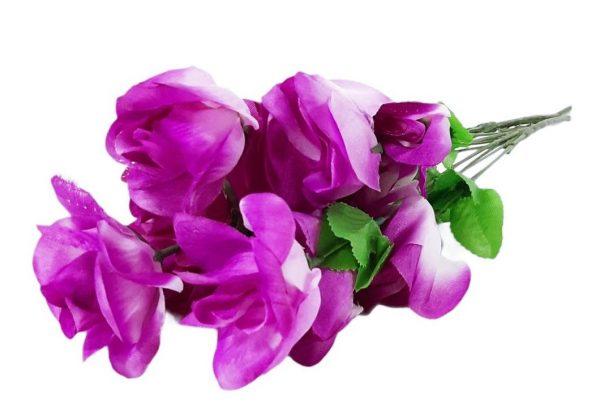 Изкуствено цвете Мини роза 5-ца в два цвята на Промо Цена с Бърза Доставка, Мнения, Препоръки, Клиентски Ревюта и Отзиви от Saksiika.com