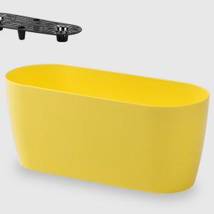 Сандъче за цветя LALA 25 см в жълт цвят на Промо Цена с Бърза Доставка, Мнения, Препоръки, Клиентски Ревюта и Отзиви от Saksiika.com