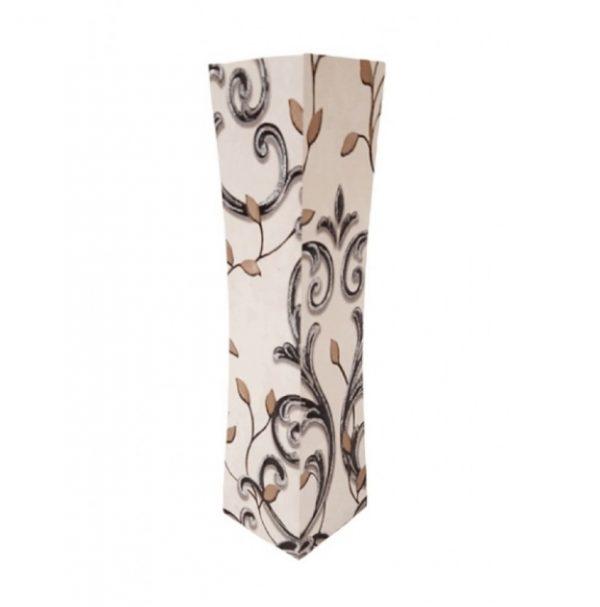 Дървена ваза в крем и черно със стилизирани цветя Н40см на Промо Цена с Бърза Доставка, Мнения, Препоръки, Клиентски Ревюта и Отзиви от Saksiika.com