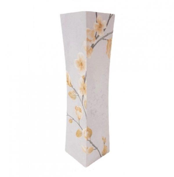 Дървена сива ваза със стилизирани цветя Н40см на Промо Цена с Бърза Доставка, Мнения, Препоръки, Клиентски Ревюта и Отзиви от Saksiika.com
