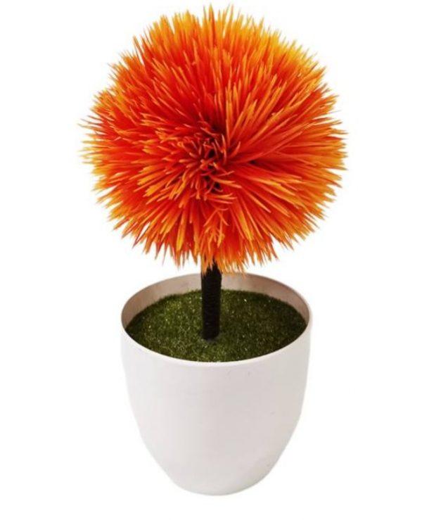 Изкуствено цвете храст-топка в кръгла пвц саксия 24см на Промо Цена с Бърза Доставка, Мнения, Препоръки, Клиентски Ревюта и Отзиви от Saksiika.com