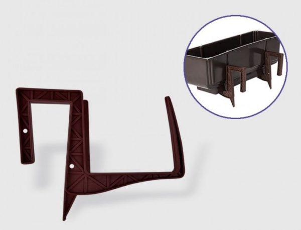 Стойка за сандъче от пвц в тъмно кафяв цвят на промо цена, с отстъпка и мнения, ревюта, препоръки и отзиви от saksiika.com