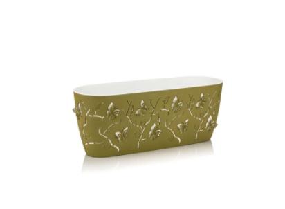 Сандъче за цветя ALYA с 3D ефект пеперуди в зелен цвят 30см/4,11л. на Промо Цена с Бърза Доставка, Мнения, Препоръки, Клиентски Ревюта и Отзиви от Saksiika.com